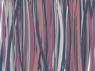 Digital drawing of plum, orange purple, grey and cream vertical lines